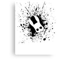 Splicer Mask (Bioshock Splatter Series) Canvas Print