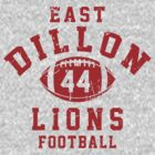 East Dillon Lions Football - 44 Gray by Stucko23