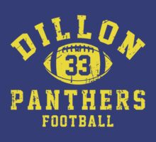 Dillon Panthers Football - 33 Blue T-Shirt