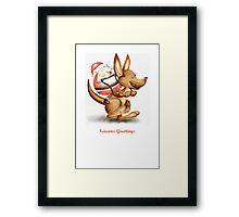 Christmas Kangaroo Framed Print