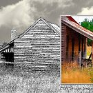 Old cottage diptych 2 by Fran Woods