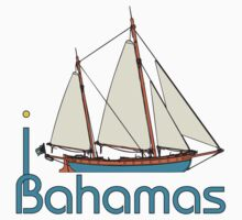 I LOVE BAHAMAS T-shirt by ethnographics