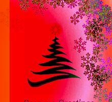 Seasons Greetings - Pink Red Orange Bright by Chris Armytage™
