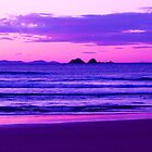 Sunset Over Julian Rocks Byron Bay by KerryPurnell