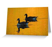 Two Gold Greeting Card