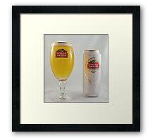Stella Artois - Full glass Framed Print