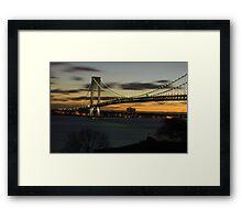 Verrazano Bridge at Dawn Framed Print