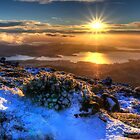 Sunrise over Hobart by Stephen  Nicholson