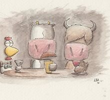Drinks with friends by Will Charlesworth