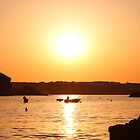 Boats in a sunset. by Olivia Hinde
