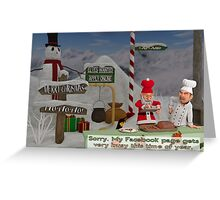 Too Many Cooks - Christmas Greeting Card Greeting Card