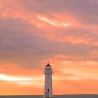 Red Sky at Perch Rock by DavidWHughes