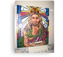 "Steinglass image of Jesus-Symbolical meanings ""Immortality,The Triumphal Entry"" Canvas Print"