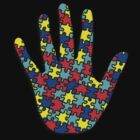 Autism Puzzle Hand by screamingtiki