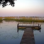 Pier at Nguma Lake  by Margaret  Hyde