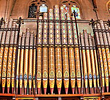 Old Time Religion - Organ St Saviours Cathedral Goulburn NSW Australia - The HDR Experience by Philip Johnson