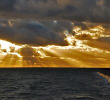 Threatening skies over the Eastern Scheldt  by Adri  Padmos