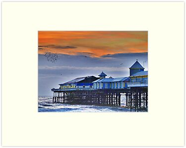 Starlings over the Pier  by Lilian Marshall