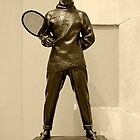 The Tennis Player.  in Cardiff Museum by Forfarlass