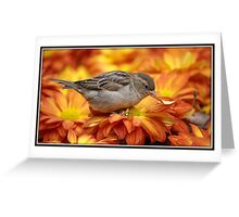 Sparrows Love Mums Greeting Card