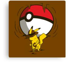 Pikachu Jones Canvas Print