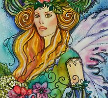 THE ANAMONE FAE, WATERCOLOR  FAIRY by kimberlysdream