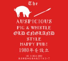 Auspicious Pig and Whistle Old England Style Happy Pub by JLTonge
