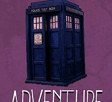 Doctor Who Poster Series #1: Adventure by Caffrin25