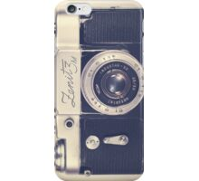 Retro - Vintage Black Camera on Beige Background  iPhone Case/Skin