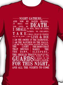 The Night's Watch Oath T-Shirt