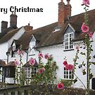 Christmas card - pretty English village cottage by BronReid