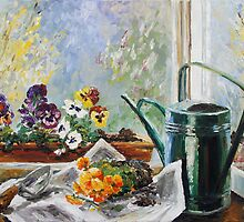 Pansies For My Window Box by Barbara Pommerenke
