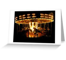 Faiground Carousel at Whitley Bay Greeting Card