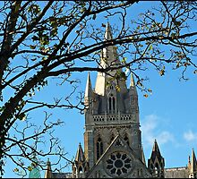 """ A winter sun shines on Truro Cathedral"" by mrcoradour"