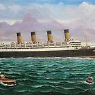 RMS Aquitania by Brad A. Thomas