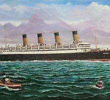 RMS Aquitania by Brad A. Thomas