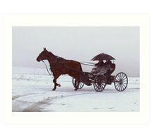 Amish Drive-By Art Print