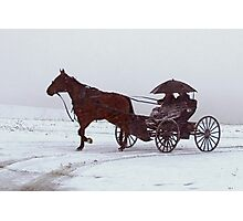 Amish Drive-By Photographic Print