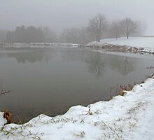 Pond In Snow by jpsphotoart