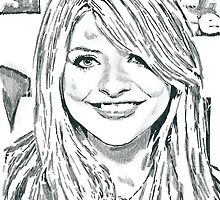 Holly Willoughby Pencil & Ink Sketch by chrisjh2210