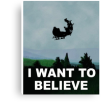 I Want To Believe (Santa) - X-FIles Canvas Print