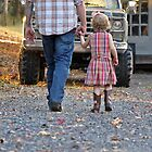 walking with daddy by SweetPImages