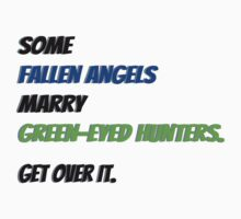 Fallen Angels Marry Green-Eyed Hunters by iheartgallifrey