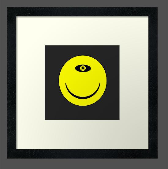 Smiley Cyclops Face by Paul Gitto