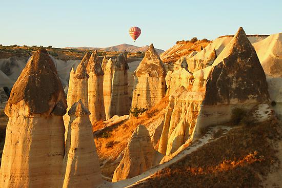 Hot Air Balloon at Sunrise by Carole-Anne