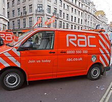 Rac Van in Regent Street during the motor show 2012 by Keith Larby