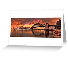 Kirribilli Sunrise - Panorama Greeting Card