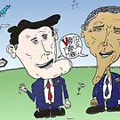 Caricature de Romney et Obama avant le jour du scrutin by Binary-Options