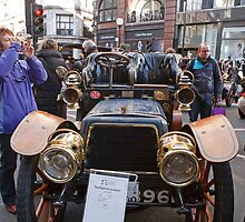 London to Brighton Veteran Car Run Car in Regent Street london by Keith Larby