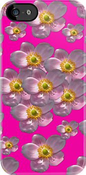 Flower Power Peony 01 iPhone Case by ManateesDesign